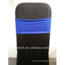 tampas da cadeira barata cadeira faixas, linda banda de elastano, Lycra banda, azul royal