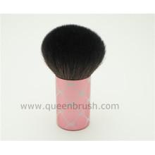 Productos de belleza Pincel de maquillaje Kabuki de mano de metal rosa