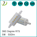 5w R7s LAMP 78mm Dimmable Led 360degree