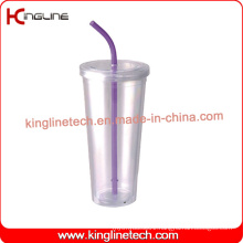 700ml Double Wall Straw Cup (KL-SC122)