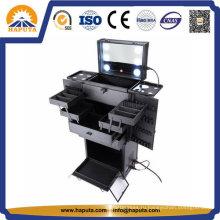 Студийный чехол для макияжа с подсветкой и ящиками (HB-5001-b)