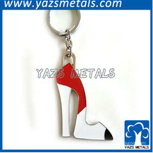 metal high-heeled shoes keychain