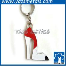 chaveiro dos sapatos de salto alto de metal