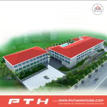 Almacén industrial prefabricado de la estructura de acero bajo costo de la polimerización