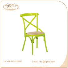 Chaise X Back, chaises Bistro en cuir, chaise Crossback