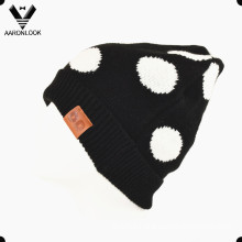Lady′s Winter Acrylic Jacquard Polka DOT Hat
