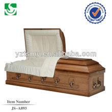 JS-A893 solid wood casket with handles