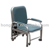 Stainless steel leather accompanying Chair with armrests
