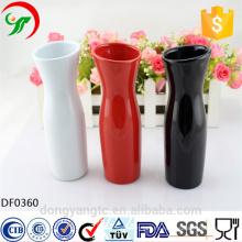 jarrones de logotipo personalizado al por mayor, jarrones de porcelana, florero de cerámica de cerámica