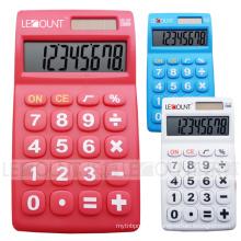 8 chiffres Calculatrice de poche à double alimentation avec grandes touches (LC317)