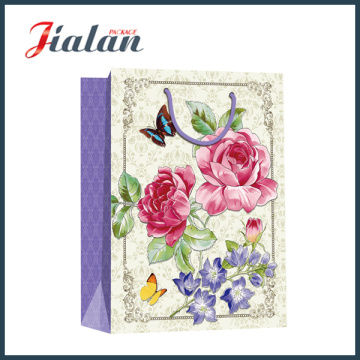 Full Printing Sunflower Holiday Design Custom Paper Bag with Handle
