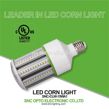 5 years warranty UL/cUL listed E26 base 15w corn bulb light lamp made by SNC factory
