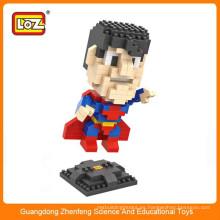 LOZ 9455 Pequeño super héroe de plástico de diamante bloque de construcción juego de rompecabezas para regalo de Navidad