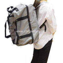 Large capacity wheeled expandable travel backpack