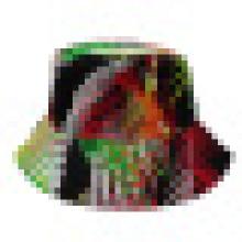 Chapéu de balde com tecido floral (BT053)