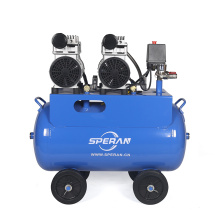 Hot selling 2 cylinder 3hp 50L mobile printing spray quiet silent oil free air compressor