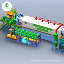 Planta de pirólise contínua para extração de óleo combustível de pó de pneu