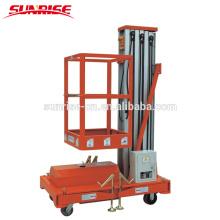 Einzelner Mast-Aluminiumluftarbeitsplattform mit der Kapazität 125 Kilogramm