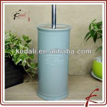ceramic glazed toilet brush set with decal