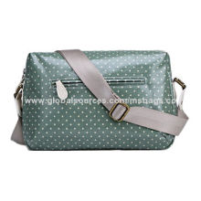 Casual Shoulder Bag, Made of Coated Canvas with Dot Printing, Suitable for Students