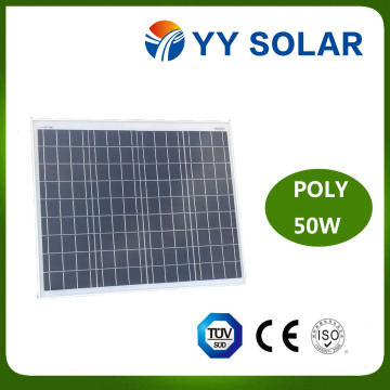 Panel solar de 50W Poly para luces de la calle y acampar