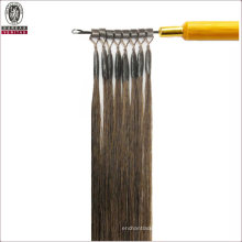 Silk Straight Natural Long 24inch Remy Human Virgin Hair Extension Micro Ring Hair
