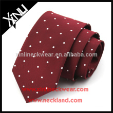 Perfect Knot 100% Handmade Woven Silk Skinny Mens Polka Dot Formal Ties