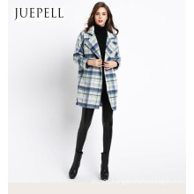 2016 New Wemen Fashion Design High Quality Wool Coat Long Wool Viscose Polyester Coat Factory Wholesale Price OEM Jacket in Guangzhou