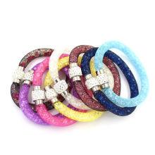 Оптовые блестящие хрустальные бусины Mesh Stardust Браслет ювелирные изделия Магнитные застежки браслеты