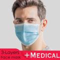 Masque médical 3 plis bleu 50pcs / boîte