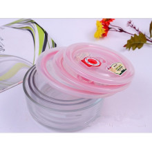 Conjunto de tigela de salada de vidro Pyrex hermético / caixa de almoço de vidro