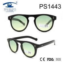 Gafas de sol de PC de forma redonda para la venta al por mayor (PS1443)