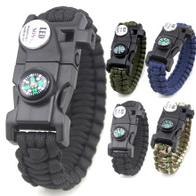 Whistle Flint Compass Paracord Survival Bracelet