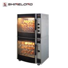 K069 Vertical Electric Chicken Rotisserie With Chicken Warmer