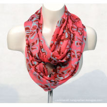 Women′s Bamboo Butterfly Printing Spring Autumn Summer Woven Beach Cover Shawl Snood Loop Scarf (SW129)