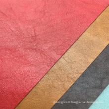 Cuir non-tissé à base de cuir synthétique de couleur