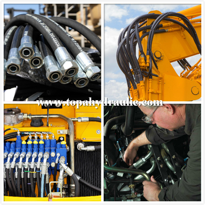 komatsu hydraulic hose stainless steel hydraulic fittings
