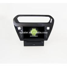 Quad core! Dvd do carro com link espelho / DVR / TPMS / OBD2 para 8 polegada tela sensível ao toque quad core 4.4 sistema Android PEUGEOT 301