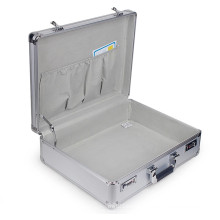Exquisite Multipurpose Silver Aluminum Alloy Tool Box