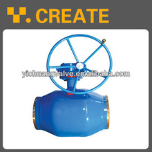 Russia Gost Worm full welded ball valve