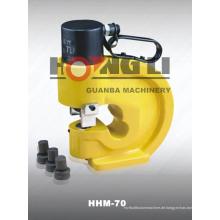 Hongli Heißer Verkauf HHM-60 HHM-70 HHM-80 Hydraulische Sammelschiene Stanzwerkzeuge mit CE