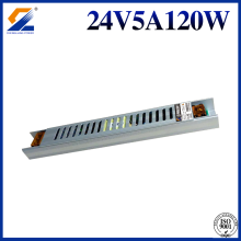 24V 5A 120W Slim SMPS för LED Strip