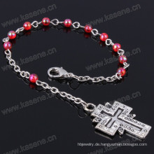 Günstige 4mm mehrfarbige Kunststoff Perlen religiösen Armband