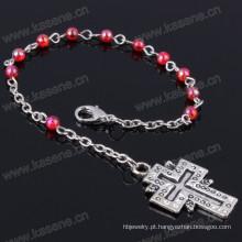 Cheap 4 milímetros Multicolour plástico Beads Religiosos pulseira