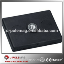 L43* W31*H6.9mm Rectangular rubber coated magnet with thread hole