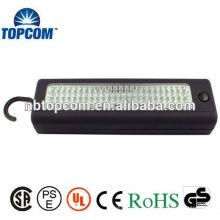 Élimination de la décharge de charge La plus forte lumière de travail portative à LED de 72 LED avec base magnétique + lampe de poche en ABS Efficace