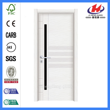 JHK-P11 white flush  pvc laminate kitchen cabinet door