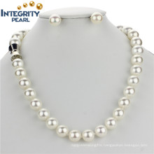 Perfect Round 10mm Sea Shell Pearl Set