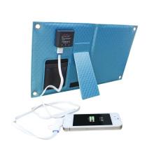 Mais novo carregador solar de telefone celular impermeável de 7W para viagens