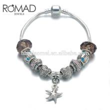¡Regalo de Szelam! Moda DIY Crystal & Glass Beads Charm Bracelets Para Mujeres Pulseras y brazaletes de cadena de serpiente Pulsera
